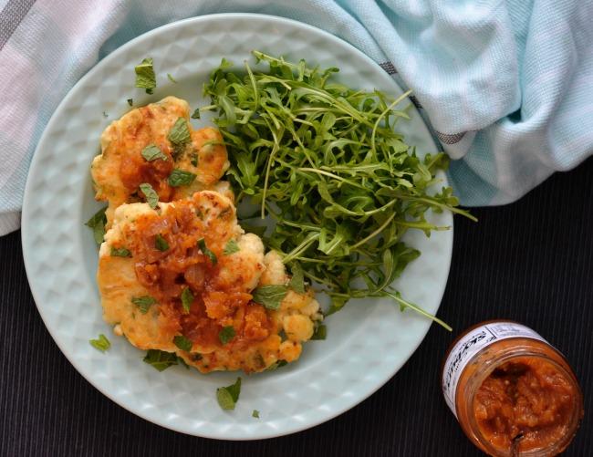 Cauliflower Feta Mint Fritters | I Spy Plum Pie
