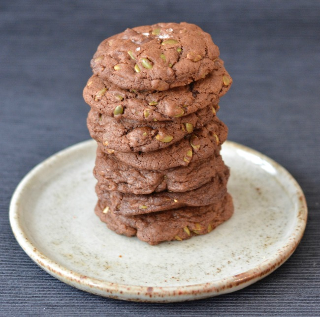 Chocolate Pepita Cookies | I Spy Plum Pie