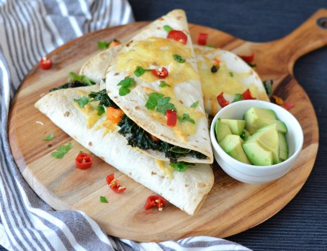 Kale Sweet Potato and Black Bean Quesadillas | I Spy Plum Pie