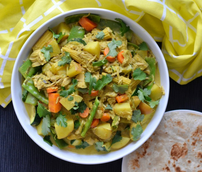 Jackfruit Vegetable Curry | I Spy Plum Pie