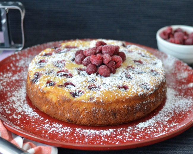 Raspberry Almond Ricotta Cake | I Spy Plum Pie