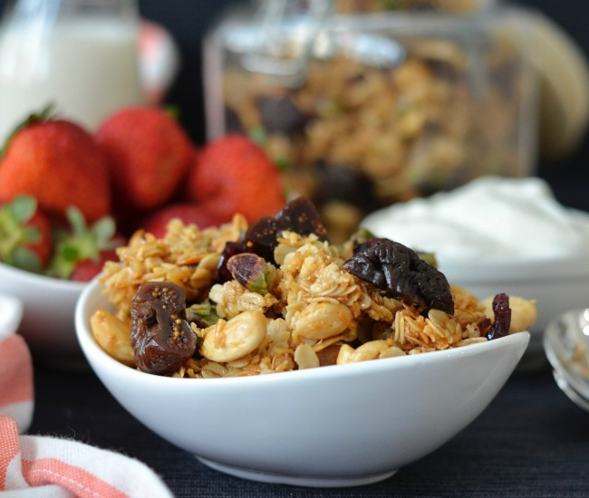 Fig Cranberry Granola | I Spy Plum Pie