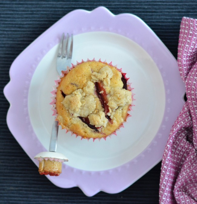 Plum Crumble Muffins & My 7th Blogiversary | I Spy Plum Pie