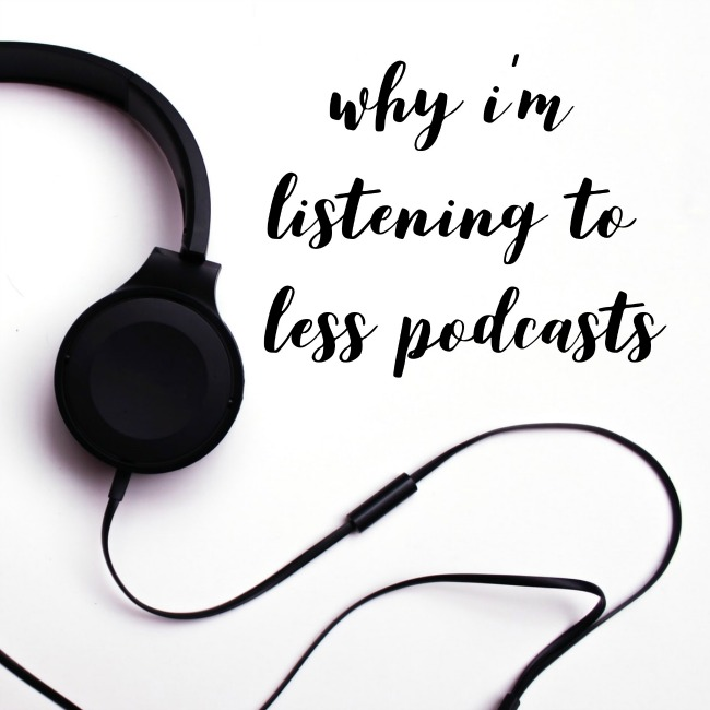 Why I'm Listening to Less Podcasts | I Spy Plum Pie
