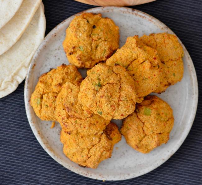 Cauliflower Kimchi Fritters | I Spy Plum Pie