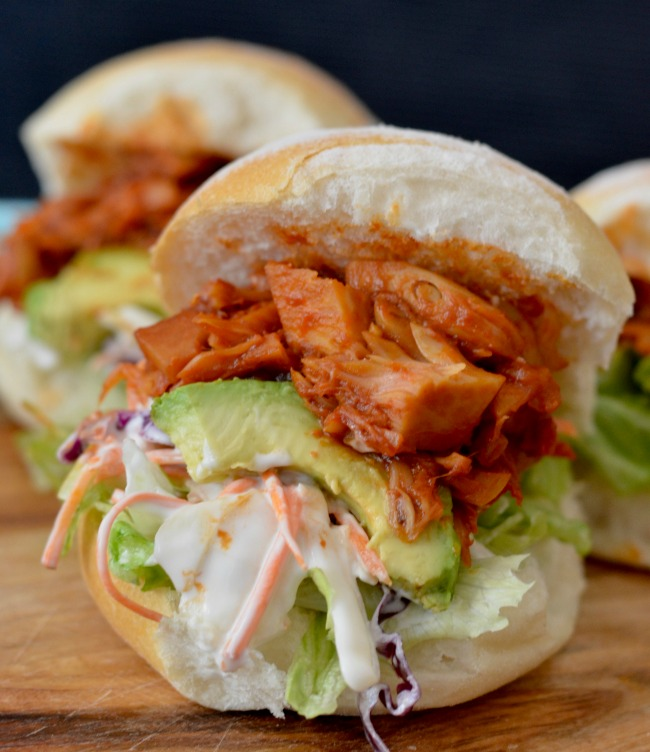 Pulled BBQ Jackfruit Burgers | I Spy Plum Pie