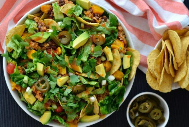 Tempeh Taco Salad | I Spy Plum Pie