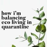 How I'm Balancing Eco Living In Quarantine