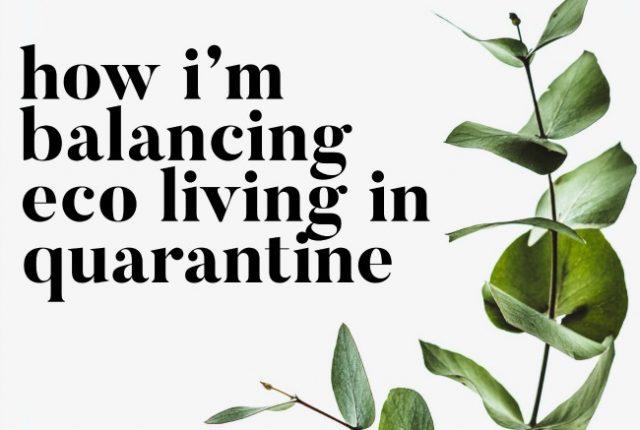 How I'm Balancing Eco Living In Quarantine | I Spy Plum Pie