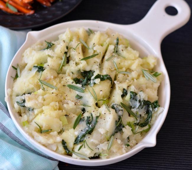 Kale Mashed Potato | I Spy Plum Pie