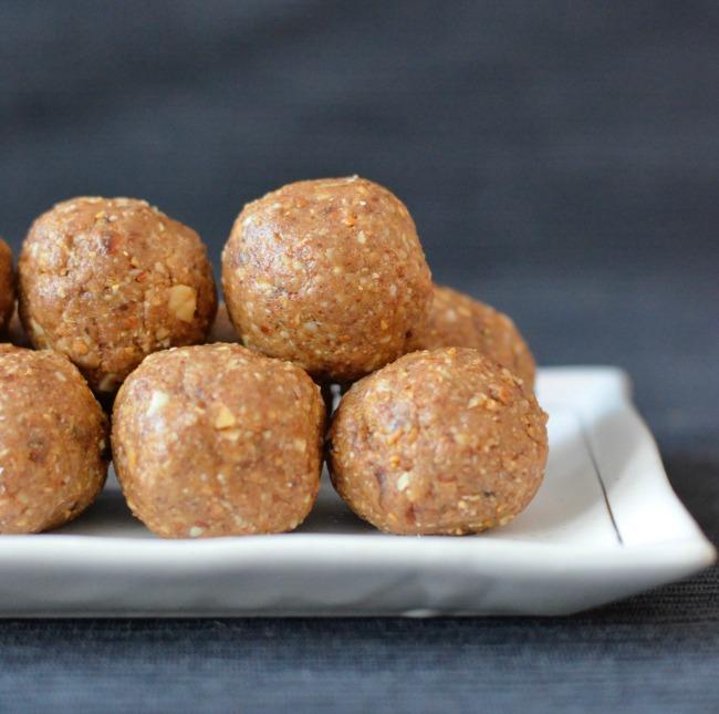 Salted Caramel Protein Balls | I Spy Plum Pie