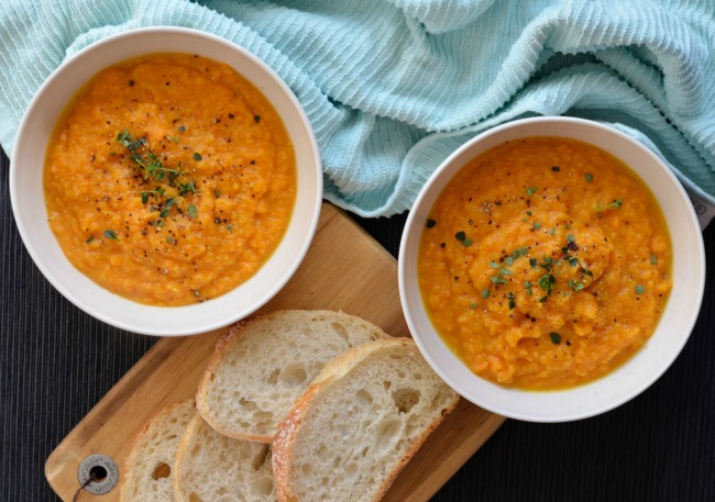 Sweet Potato Chickpea Soup | I Spy Plum Pie