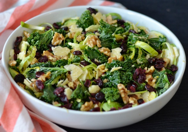 Kale and Brussels Sprout Salad | I Spy Plum Pie