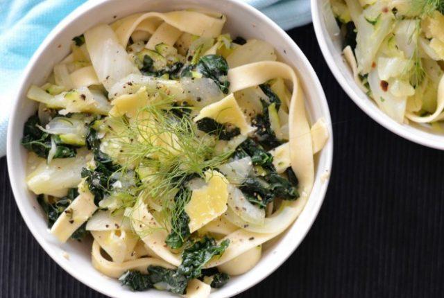 Fennel Kale Pasta | I Spy Plum Pie