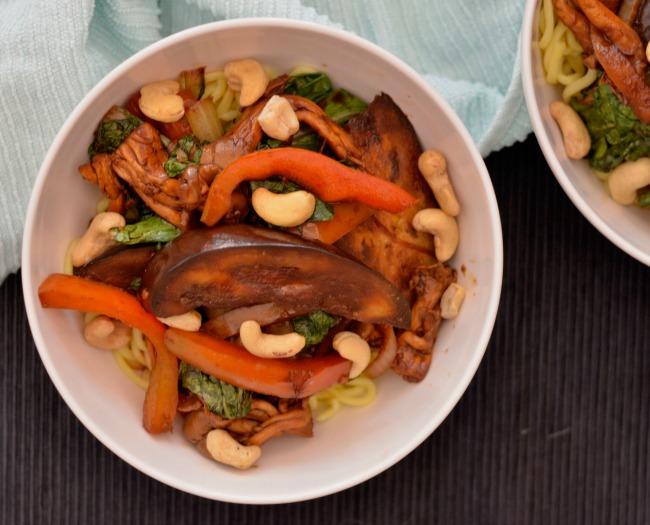 Eggplant Mushroom Stir Fry | I Spy Plum Pie