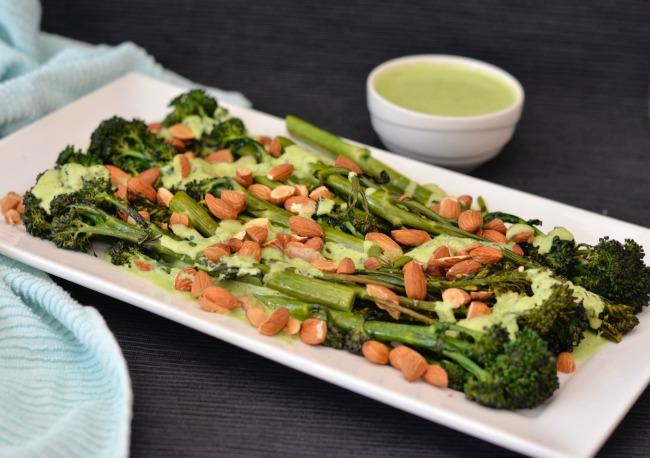 Roasted Broccolini Salad | I Spy Plum Pie