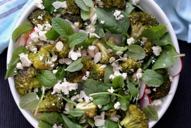 Roast Broccoli Cannellini Bean Salad | I Spy Plum Pie