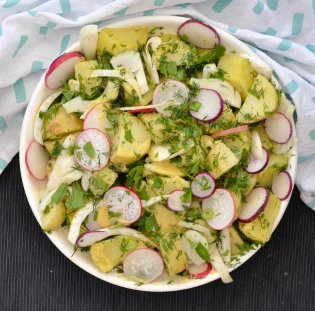 Potato Salad with Radish and Fennel | I Spy Plum Pie