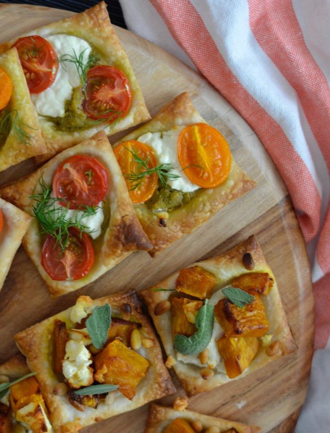 Pumpkin Feta and Tomato Goats Cheese Tarts | I Spy Plum Pie
