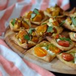 Recipe: Pumpkin Feta and Tomato Goats Cheese Tarts