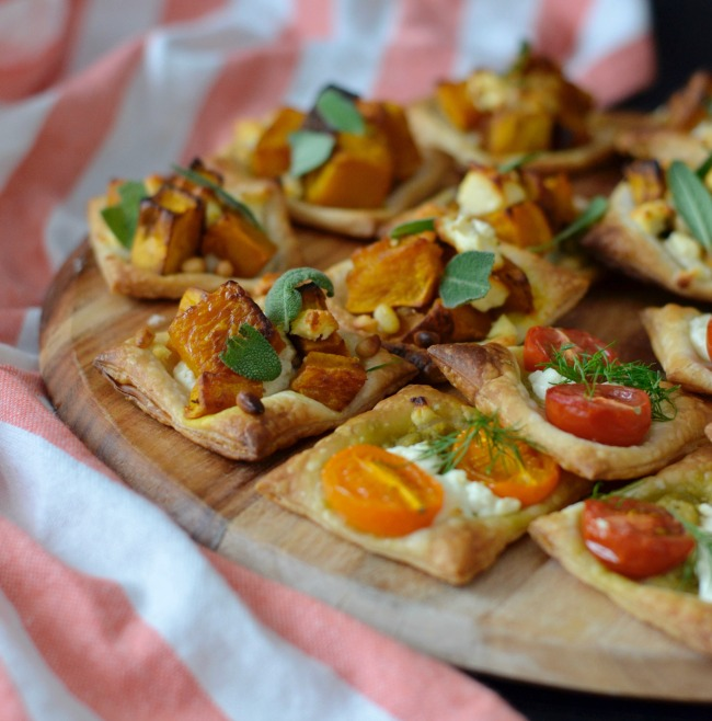 Pumpkin Feta and Tomato Goats Cheese Tarts | I Spy Plum Pie