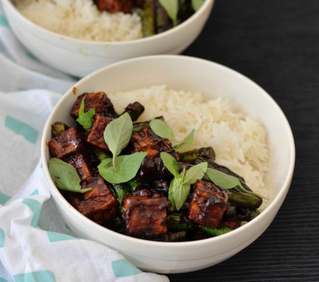 Crunchy Tofu with Chilli and Green Beans | I Spy Plum Pie