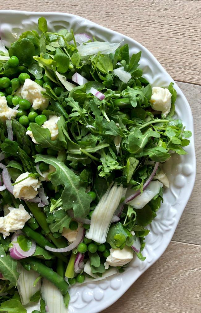 Pea Asparagus Fennel Bocconcini Salad   I Spy Plum Pie