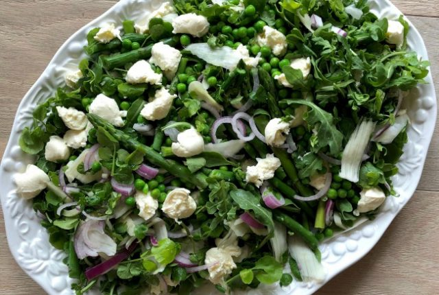 Pea Asparagus Fennel Bocconcini Salad | I Spy Plum Pie