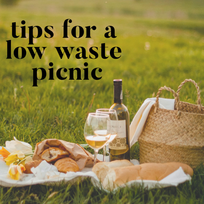 Tips for a Low Waste Picnic | I Spy Plum Pie