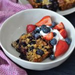 Recipe: Blueberry Pecan Baked Oatmeal