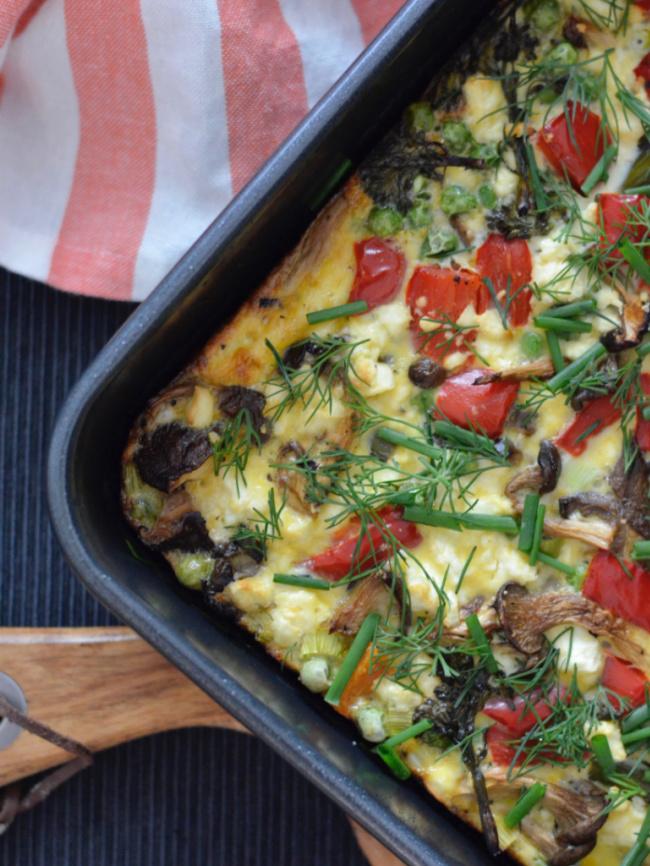 Sweet Potato Mushroom Frittata | I Spy Plum Pie