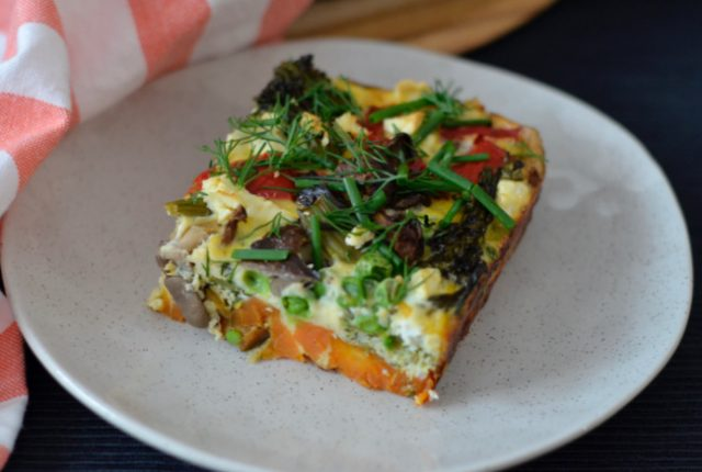 Sweet Potato Mushroom Frittata | I Spy Plum Pie