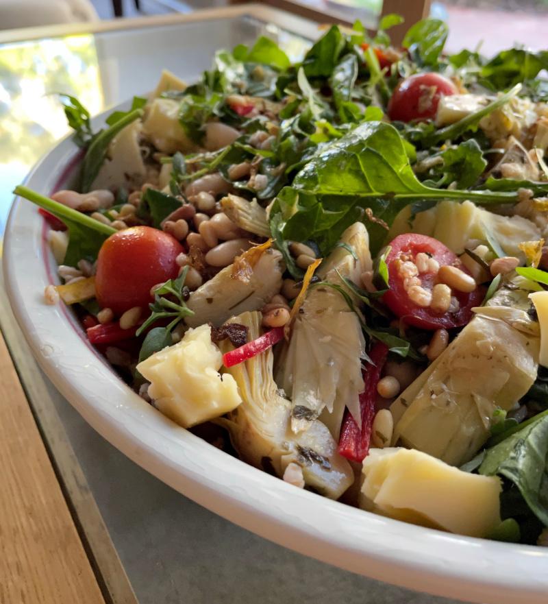 Artichoke Spelt Salad   I Spy Plum Pie