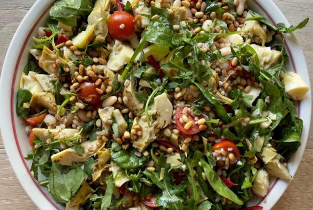 Artichoke Spelt Salad | I Spy Plum Pie