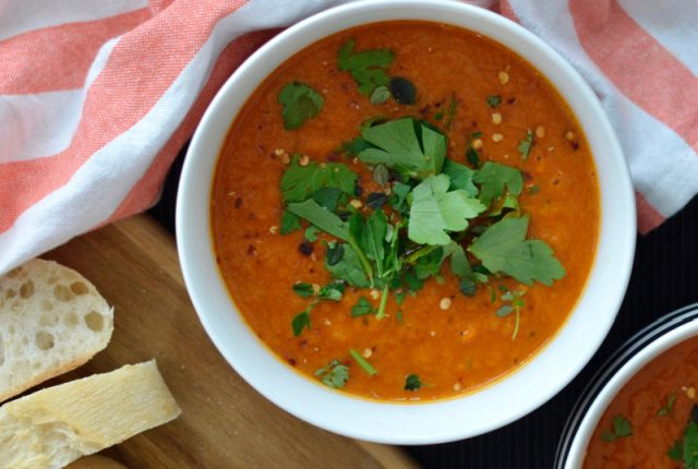 Roasted Capsicum and Fennel Soup | I Spy Plum Pie