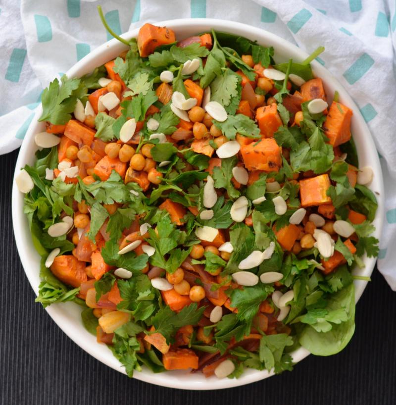 Sweet Sweet Potato and Harissa Chickpea Salad   I Spy Plum Pie Harissa Chickpea Salad   I Spy Plum Pie
