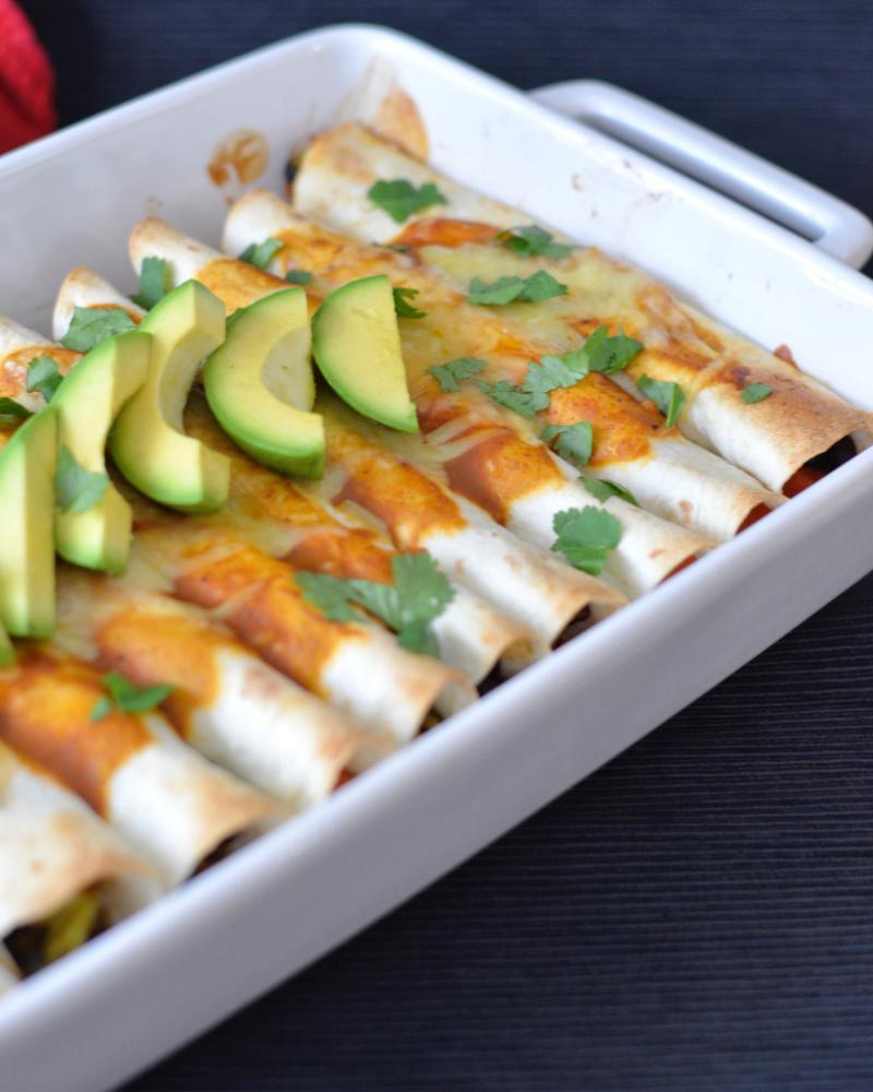 Black Bean Sweet Potato Enchiladas   I Spy Plum Pie