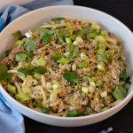 Recipe: Mushroom Celery Leek Dan Dan Noodles