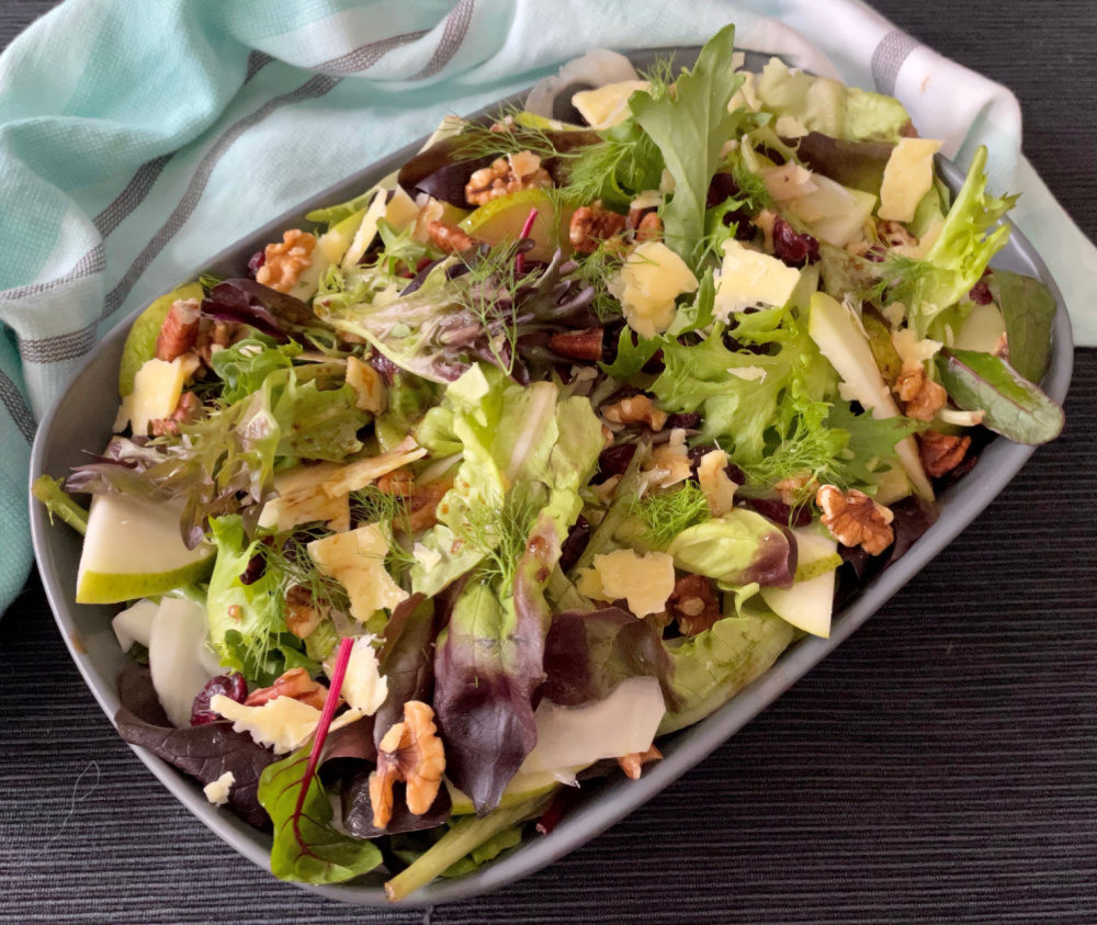 Pear Fennel Winter Salad | I Spy Plum Pie