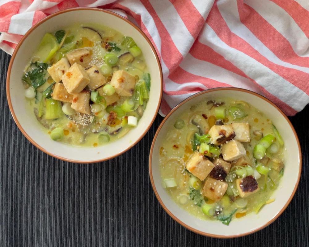 Tofu Mushroom Curry Noodles   I Spy Plum Pie