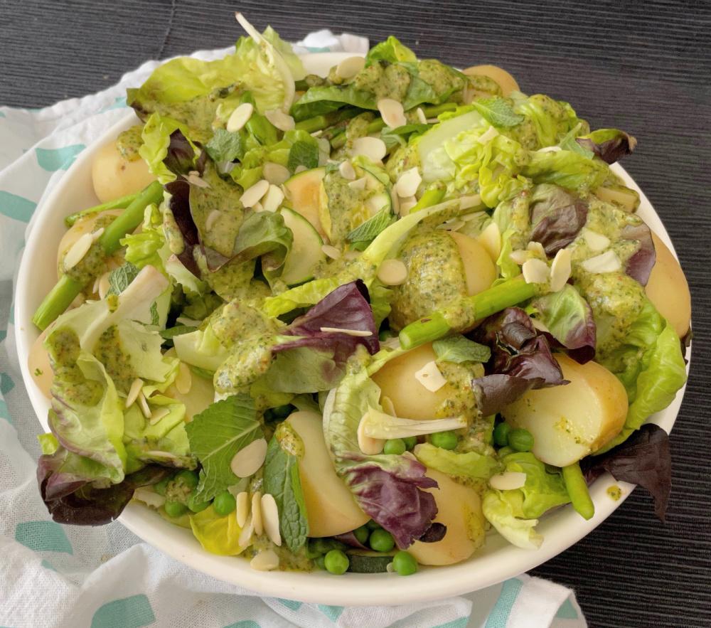 Spring Potato Asparagus Salad | I Spy Plum Pie