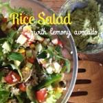 Recipe: Rice Salad with Lemony Avocado