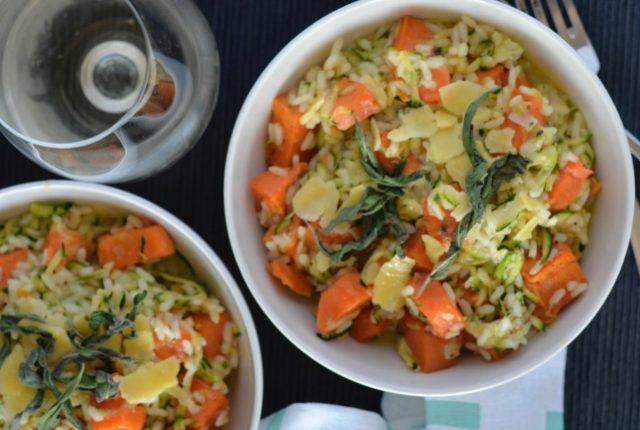 Sweet Potato Zucchini Risotto | I Spy Plum Pie