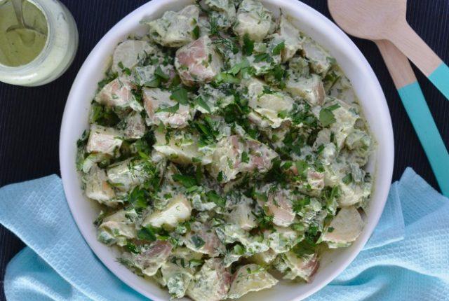 Creamy Vegan Potato Salad | I Spy Plum Pie
