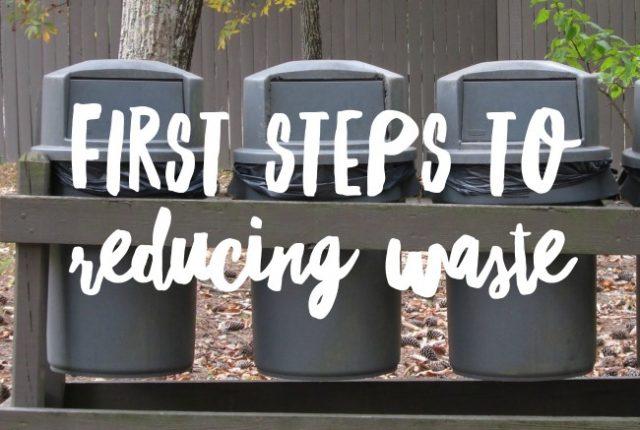 First steps to reducing waste | I Spy Plum Pie