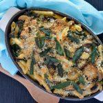 Recipe: Mushroom Sage and Kale Pasta Bake