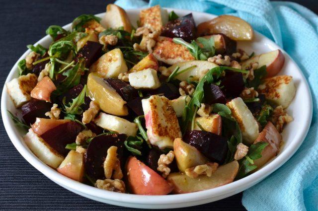 Roast Beetroot, Apple & Haloumi Salad   I Spy Plum Pie