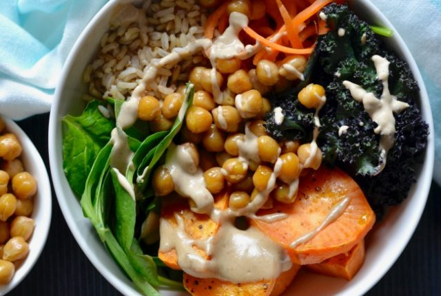 Chilli Lime Chickpea & Sweet Potato Bowls | I Spy Plum Pie
