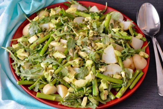 Potato Asparagus Avocado Salad | I Spy Plum Pie