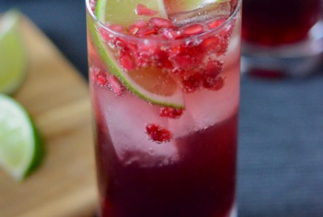 Pomegranate Lime Cocktail | I Spy Plum Pie